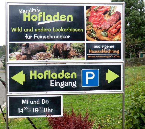 Hofladen-Eingang